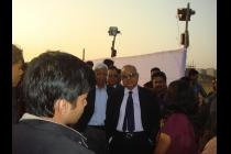 Prof P Rama Rao (Chairman, BOG) interacting with students during Alma Fiesta 2011