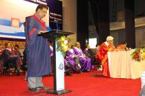 Registrar reads out the citation for Doctor of Science (Honoris Causa)