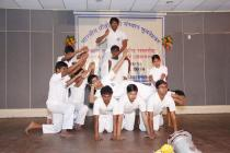 Yoga Show by the students on the eve of 6th Foundation Day