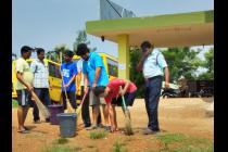 """Swachh Bharat Mission"" activities at Madanpur Hostel on 2nd Oct, 2014."
