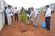 Plantation by Director IIT Bhubaneswar
