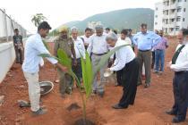Plantation by BOG Chairman Shri Pankaj Ramanbhai Patel