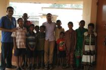 Dr N.C Sahoo with School Children