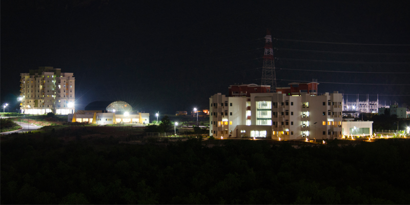 Campus view at night
