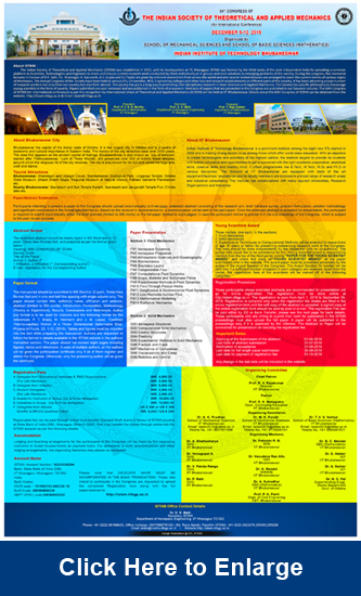 64th CONGRESS OF THE INDIAN SOCIETY OF THEORETICAL AND APPLIED